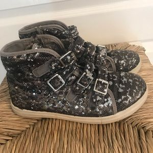 Justice Sparkle High Tops - Size 6